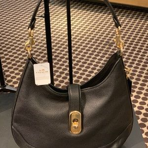 Coach Black Hobo Bag